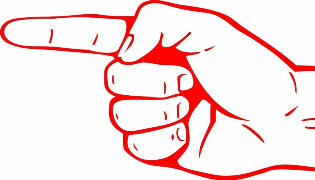 – Jeg vil fortsette å vifte, med begge pekefingre, til dette blir tatt på alvor. I tillegg vil jeg benytte alle fingrene på tastaturet, skriver Karl Øyvind Jordell. Illustrasjon: Pixabay