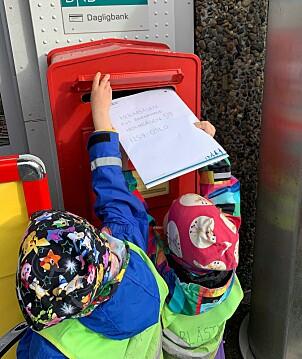 Brevet er på vei til Oslo. Foto: Privat