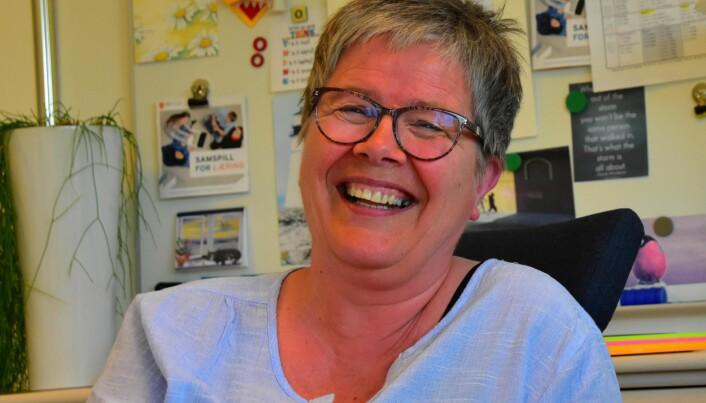 – Det viktigste er at det er åpenhet og deling og mulighet for å prøve ut nye metoder sånn at elevene får et godt læringsutbytte, sier Torill Hvalryg, rektor ved Tromsdalen videregående skole. Foto: Kirsten Ropeid