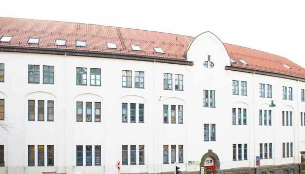 Eksisterende kommersielle skolar får ikkje utvide tilbudet sitt i det nye fylket Vestlandet. Her illustrert med Bergen Private Gymnas. Foto: Google, skjermdump