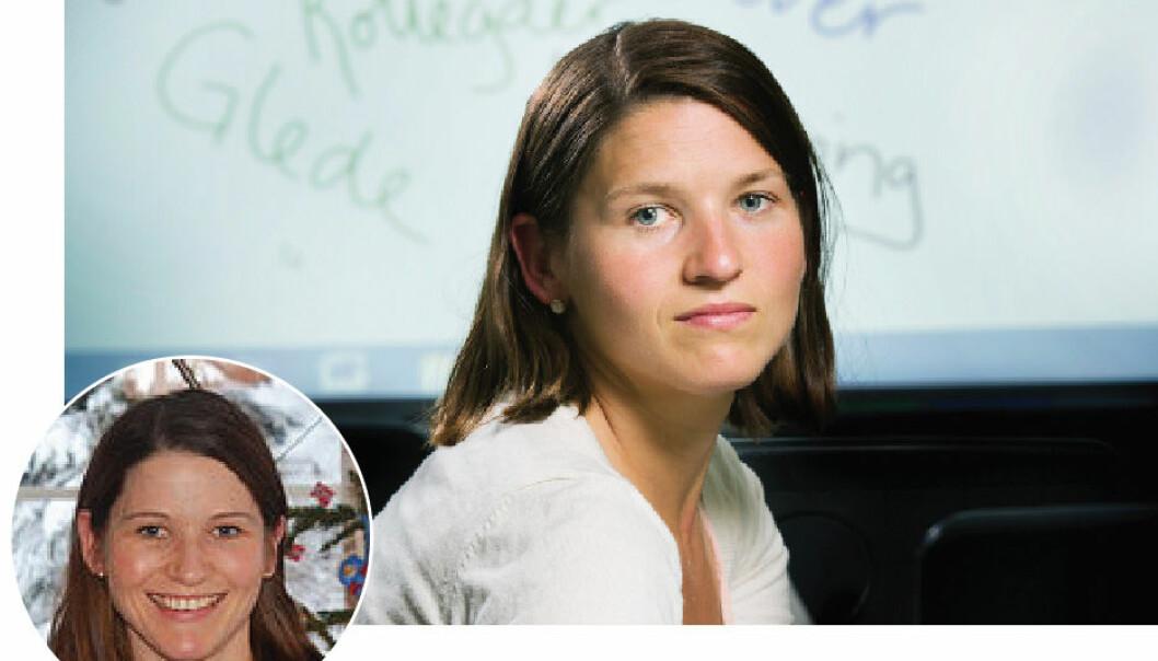 Ida Sandholtbråten kom tilbake til skolen etter et år utenfor læreryrket. Bo Mathiesen/privat