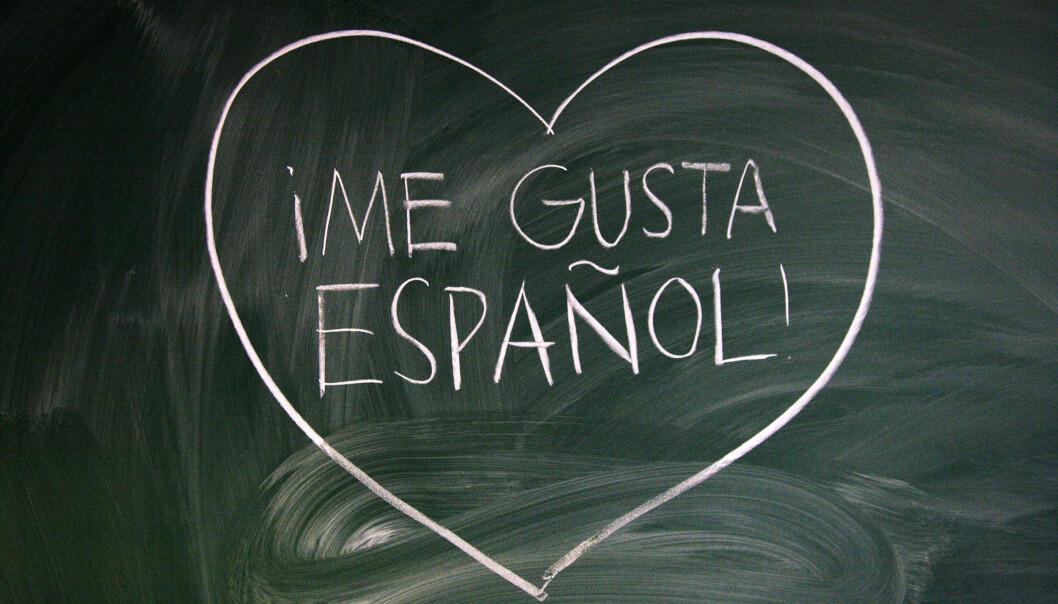 Spansk holder stand som språket flest ungdomsskoleelever velger. (Foto: Inger Stenvoll)