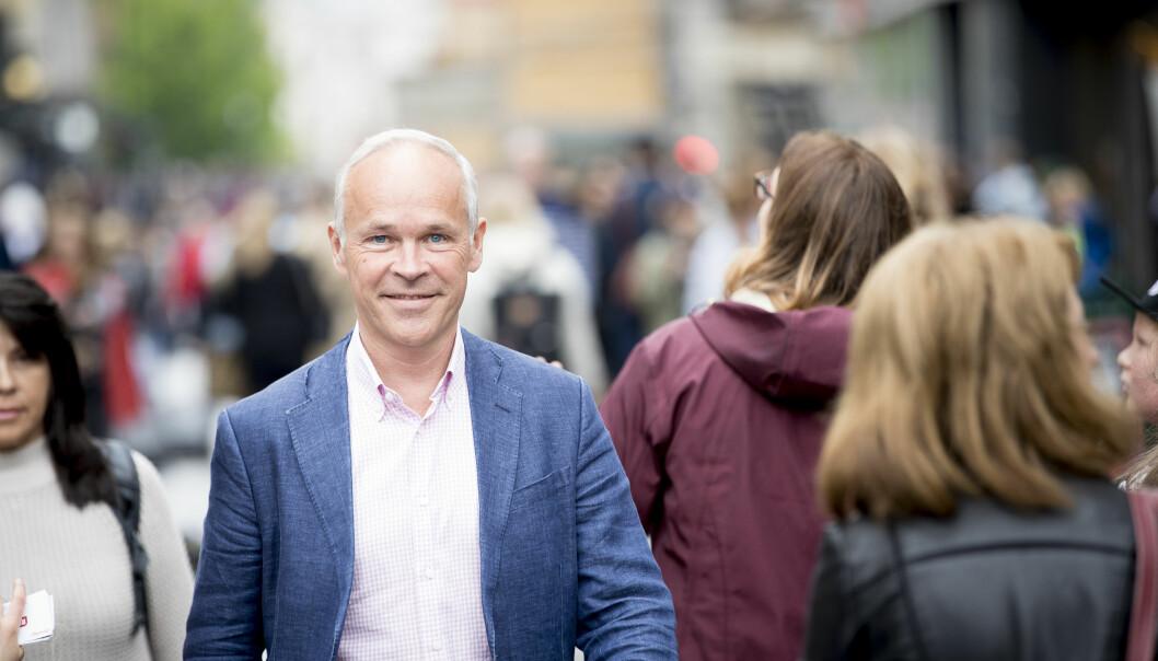 – Vi vil erstatte dagens krav om antall timer med norskopplæring med at den enkelte skal få nødvendig norskopplæring slik at man kan nå et visst nivå. Vi går fra kvantitet til kvalitet., skriver kunnskaps- og integreringsminister Jan Tore Sanner (H). Foto: Bo Mathisen.