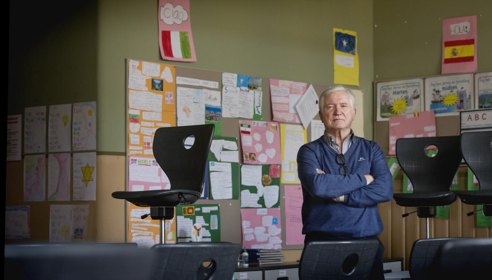 I 1999 var andelen mannlige lærere i grunnskolen i Norge 36 prosent. Knappe tyve år senere er andelen 25 prosent. Foto: Tom-Egil Jensen