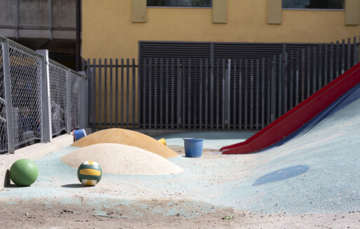 Størrelsen på uteområdet i barnehagen bør være lett å sjekke for foreldrene, ifølge nye anbefalinger