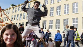 Elevene ved Kampen skole i Stavanger fikk skolegården de ønsket seg