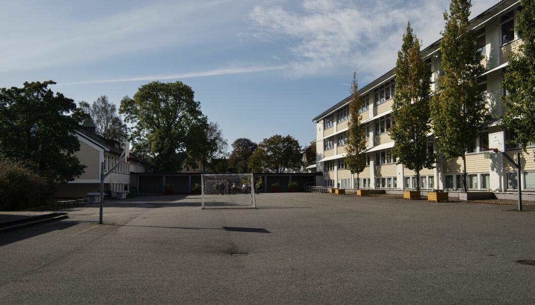 Håndballmål, basketkurv og hard asfalt. Ungdommene  ved Kannik skole har jobbet for at fremtidens elever skal få helt andre uteområder enn de selv har måttet leve med. Foto: Marie von Krogh