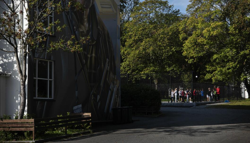 Da kommunen spurte elevene om å rangere skolegården sin, fikk uteområdene til Kannik skole bunnskår. Foto: Marie von Krogh