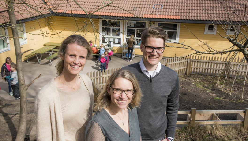 Katja Kessler-Hansen, Lene Haugland og Michael Sars Norum. Foto: Erik M. Sundt.