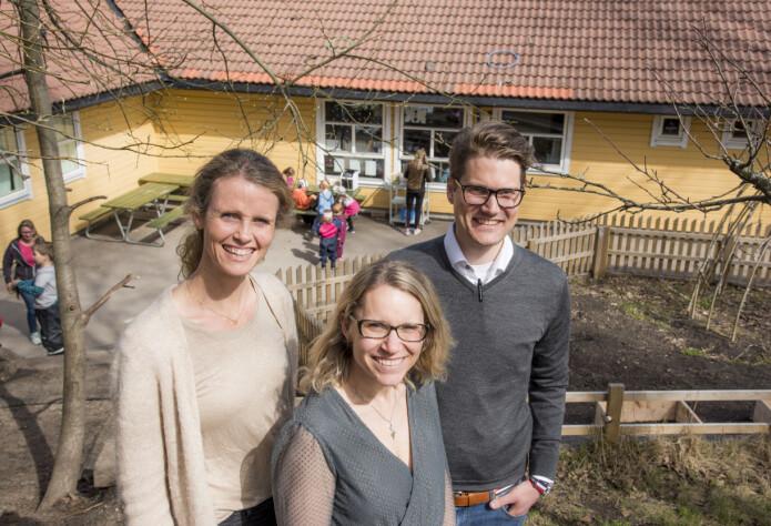 Daglig leder Katja Kessler-Hansen, her sammen med Lene Haugland og Michael Sars Norum. Foto: Erik M. Sundt.