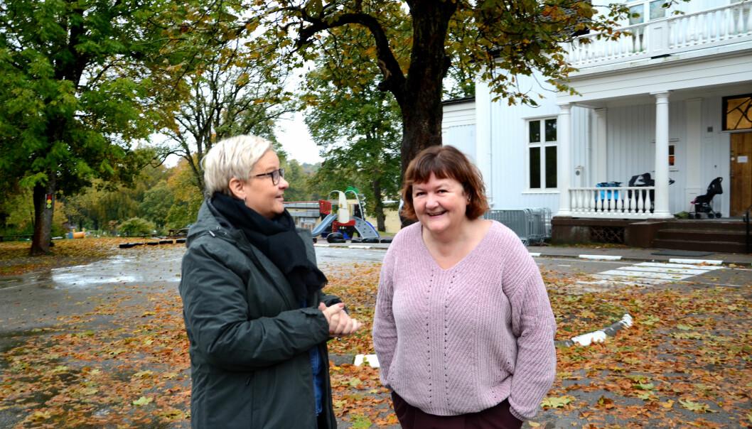 Barnehagestyrerne Merete Bru og Margaret Johansen råder politikerne i Tønsberg til å kartlegge hvilke behov barnehagen har. Foto: Kari Oliv Vedvik