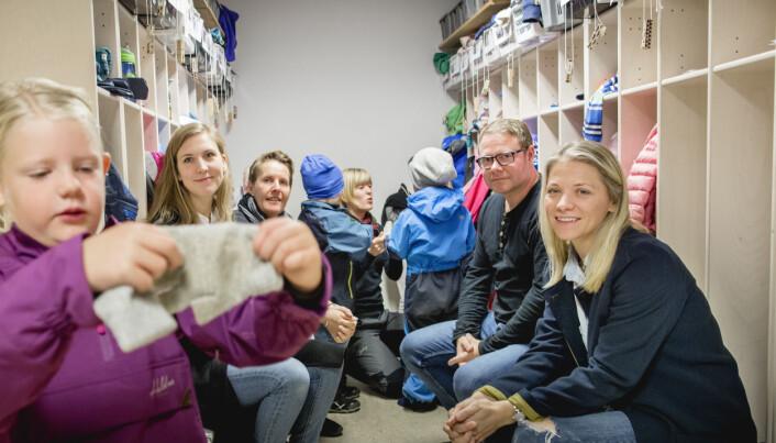 Maria Steinum, pedagogisk leder Elin Ruvik, Royne Berget og Synnøve Hvidsten. Foto: Tom-Egil Jensen.