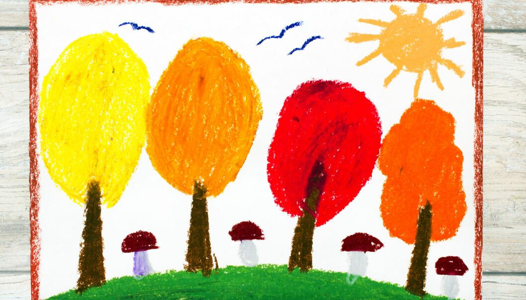 Dersom vi nekter barn som tospråklige Mira å tegne noe annet enn høstbilder som vi har foreslått kan vi risikere at hun faller utenfor det sosiale fellesskapet i barnehagen fordi hun ikke vet hva det vil si å male høstbilder. Illustrasjonsfoto: Adobe stock