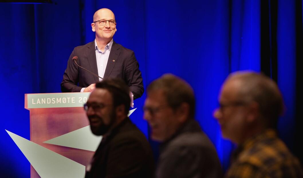 Utdanningsforbundet har passert 182.000 medlemmer, sa Steffen Handal under åpningen av landsmøtet. Foto: Tom-Egil Jensen