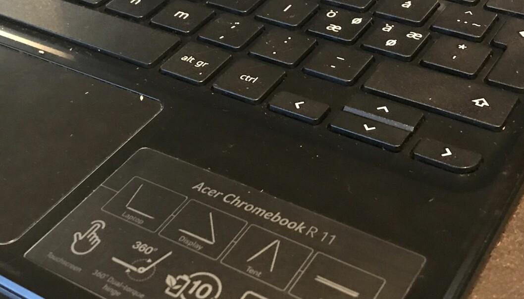 Brannen i en Chromebook skjedde uten at den var i bruk og uten at den ladet. Ill.foto: Paal Svendsen
