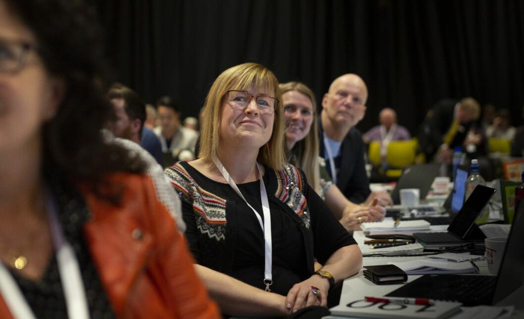– Når programma innføres, forventes det at alle lærere skal slutte lojalt opp om dem, sa Camilla Tingelstad på Utdanningsforbundets landsmøte i dag. Foto: Tom Egil Jensen