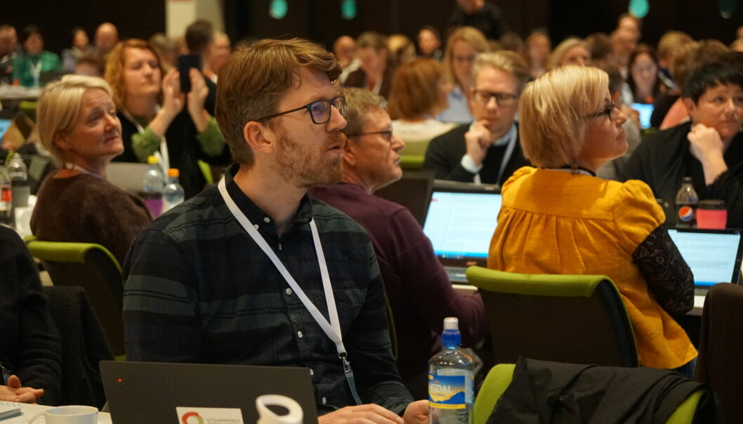 Delegat Halvor Kolsrud fra Oslo mener Utdanningsforbundet trenger et eget integreringsutvalg. Foto: Marianne Ruud