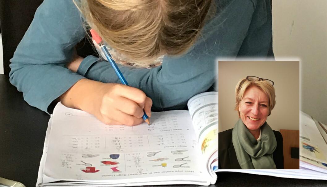 – Dette skal vi feire, sier rektor ved Bønes skole, Bjørg Wangen (innfelt), etter at hun ble kjent med at skolens femteklasseinger har gjort det best av sine jevnaldringer landet over, ifølge en beregning gjort av utdanningsnytt.no. Foto: Utdanning/privat