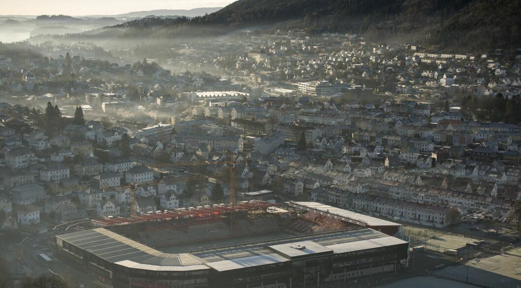 Det er fare for høy luftforurensning i Bergen de neste dagene. Foto: Carina Johansen / NTB scanpix