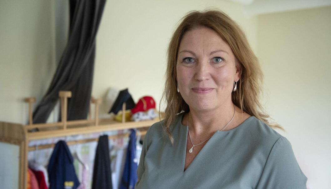Johanna Jaara Åstrand i Lärarförbundet sier det vil gagne medlemmene dersom kongressene i de to største svenske lærerforeningene bestemmer seg for å slå seg sammen. Det skjer i mai.,
