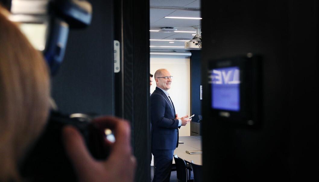 Utdanningsforbundet og Steffen Handal skal prøve å få til en ny avtale om arbeidstid for lærere. Det var dette som var kimen til streiken i 2014. Bildet er tatt under tariffoppgjøret i vår.