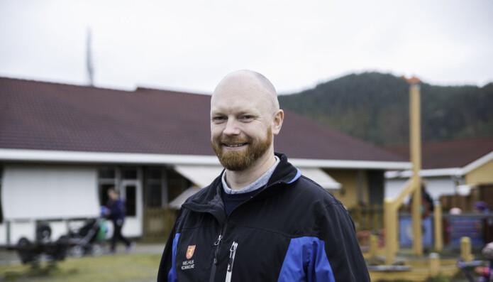Audun Forr har ledet barnehagen siden 2017. Han har fått hjelp til å skape et godt arbeidsmiljø av Sintef og Fagforbundet.