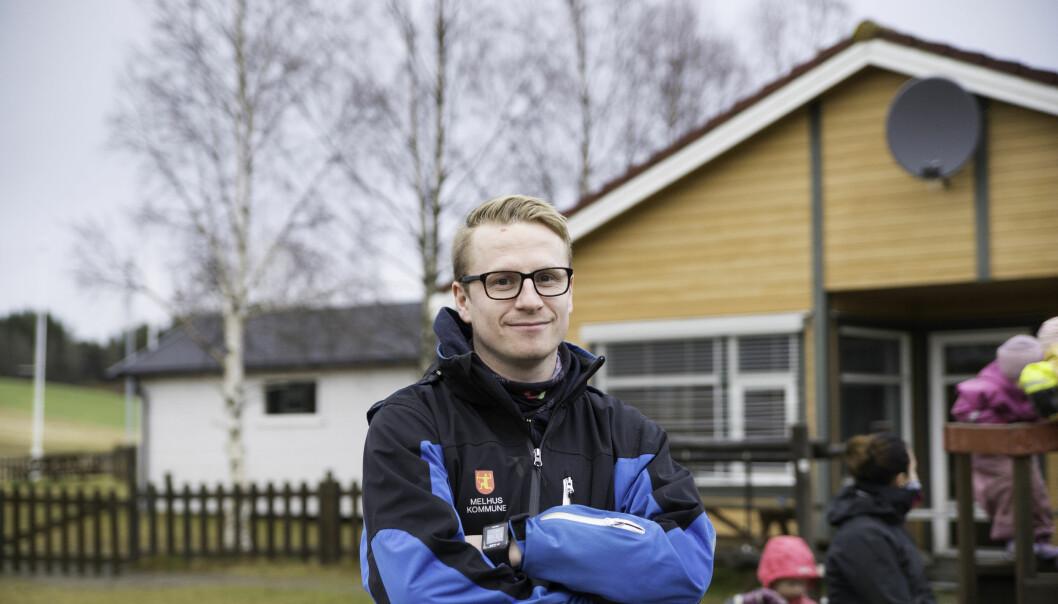 Geir-Arne Pedersen setter stor pris på at pedagogene nå har fått et felles fagmøte på fredager. Sånt blir det bedre kvalitet av, mener Pedersen.
