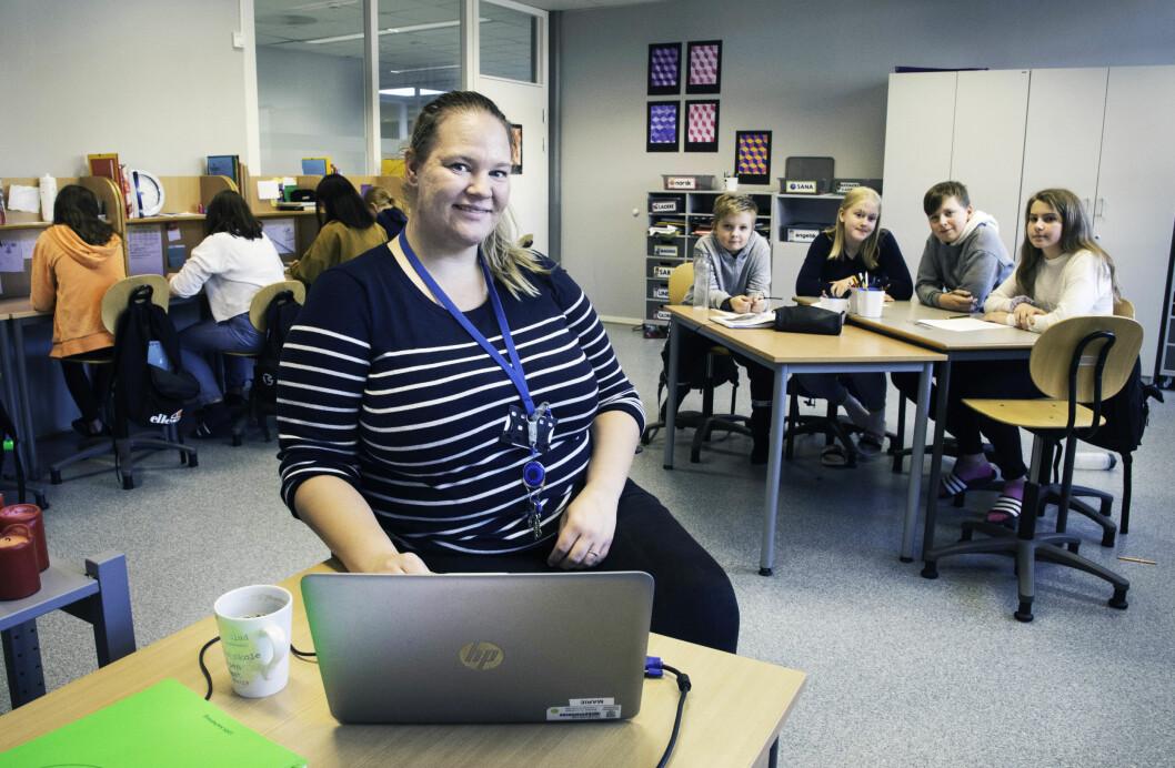 Marie Hegerberg er kontaktlærer på 7. trinn og fortsetter undervisningen som tidligere.
