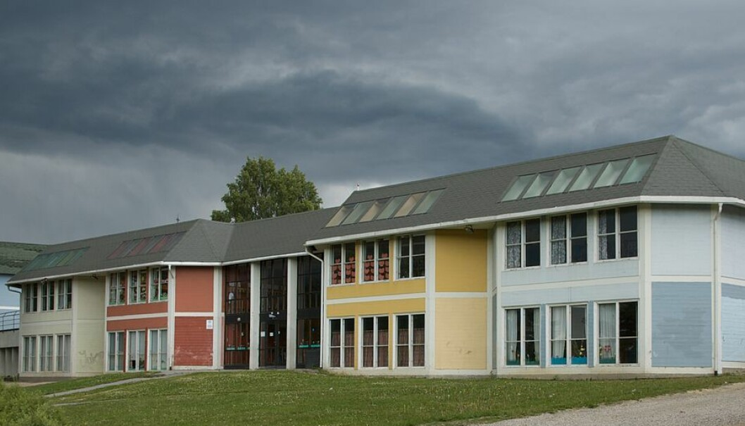 Ved alle de 19 skolene i kommunen har de ansatte med annen høyere utdanning enn lærer. Mange er barnevernspedagoger. Også her ved Lunde barneskole. Foto: Bitjungle, Wikimedia Commons
