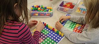 Leker med matte i barnehagen