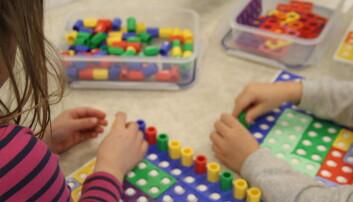 Leker med matematikk i barnehagen