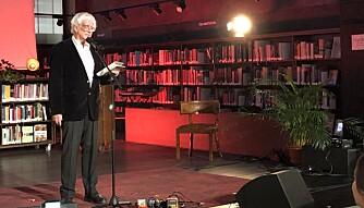 Forfatter Jan Erik Vold leste dikt