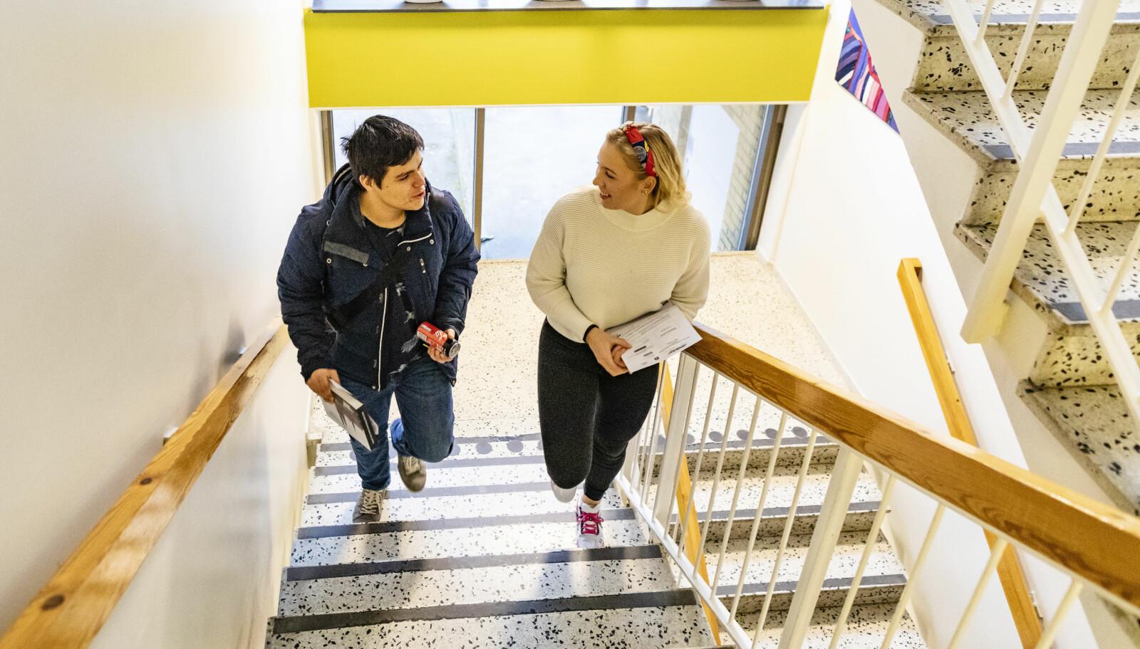 Elever ved Rosedalsgymnasiet i Uppsala er bekymret for forskjellene i det svenske samfunnet.