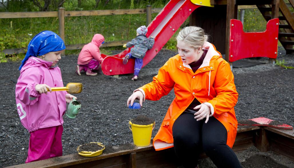 Barnehagepedagog Hildur Aradóttir har ansvar for å forberede barna, som Ásdís Helga, til skolestart