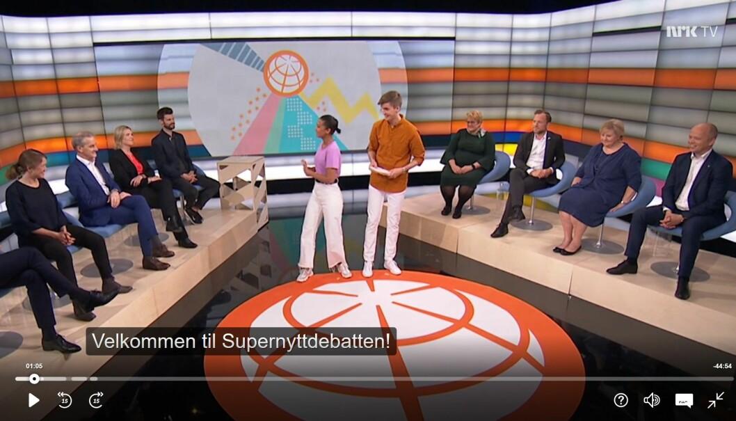 Supernyttdebatten med politikere i studio.