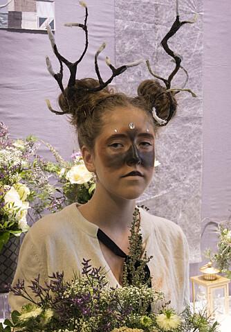 Eugenie Jacobsen har fått rollen som reinsdyr.