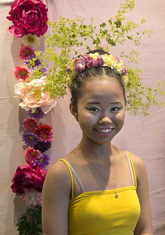 Emma Huynh med en vårlett frisyre.