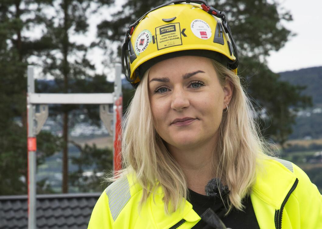 Da Ingvild Fjellheim fra Stokke i Vestfold skulle begynne på videregående, valgte hun ut fra ferdighetene sine. Taktekkingen kom naturlig.