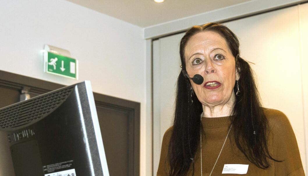 Professor Hilde Hiim fra OsloMet presenterte resultater fra det store forskningsprosjektet.
