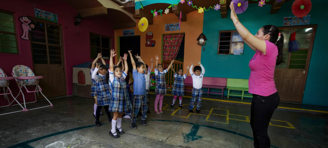 Disse meksikanske barna har egen gymlærer i barnehagen