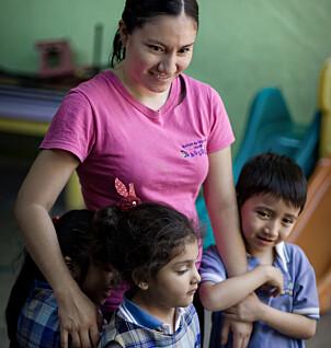 Barnehagelærer Margarita har ansvaret for gruppen med fire–fem-åringer i barnehagen.