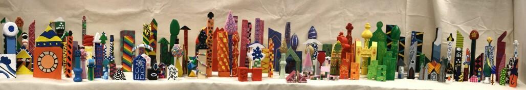 Barnehagelærerstudentene ved Universitetet i Agder har laget en klosseby inspirert av 1001 natt og Barcelona.