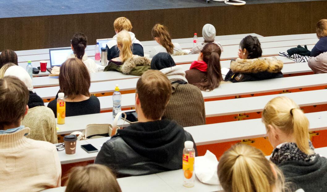 Studenter ved Institutt for spesialpedagogikk på Universitetet i Oslo hadde høy strykprosent på høstens eksamen. Foto: Tom Egil Jensen