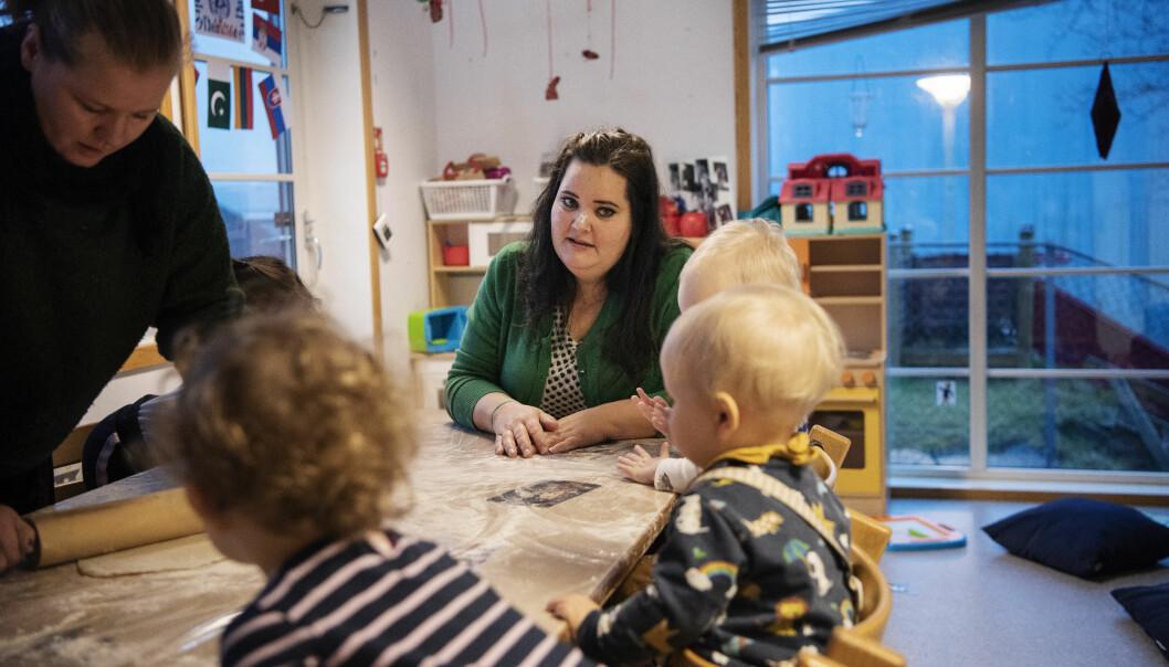 – Det handler om å anerkjenne profesjonen og ansvaret barnehagelærerne er blitt gitt, sier pedagogisk leder Trine Mæsel.