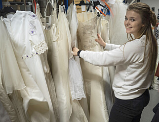 Aina redesigner brudekjoler fra Fretex