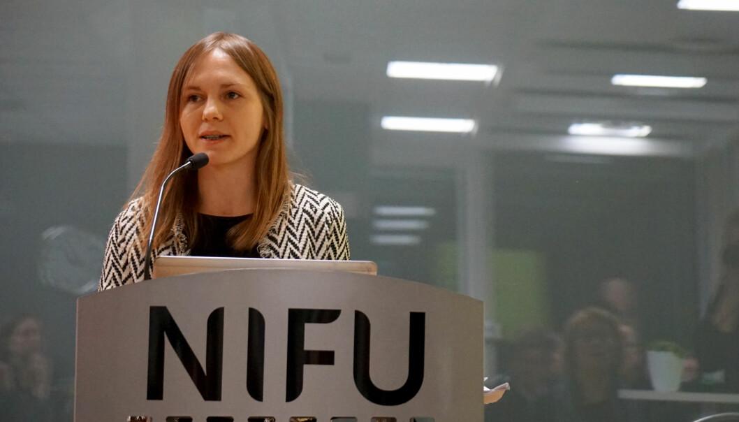 Forsker Olga Serediak redegjorde for hvordan de fem ulike modellene hun og kolllaga Håvard Helland ved OsloMet har simulert vil slå ut.