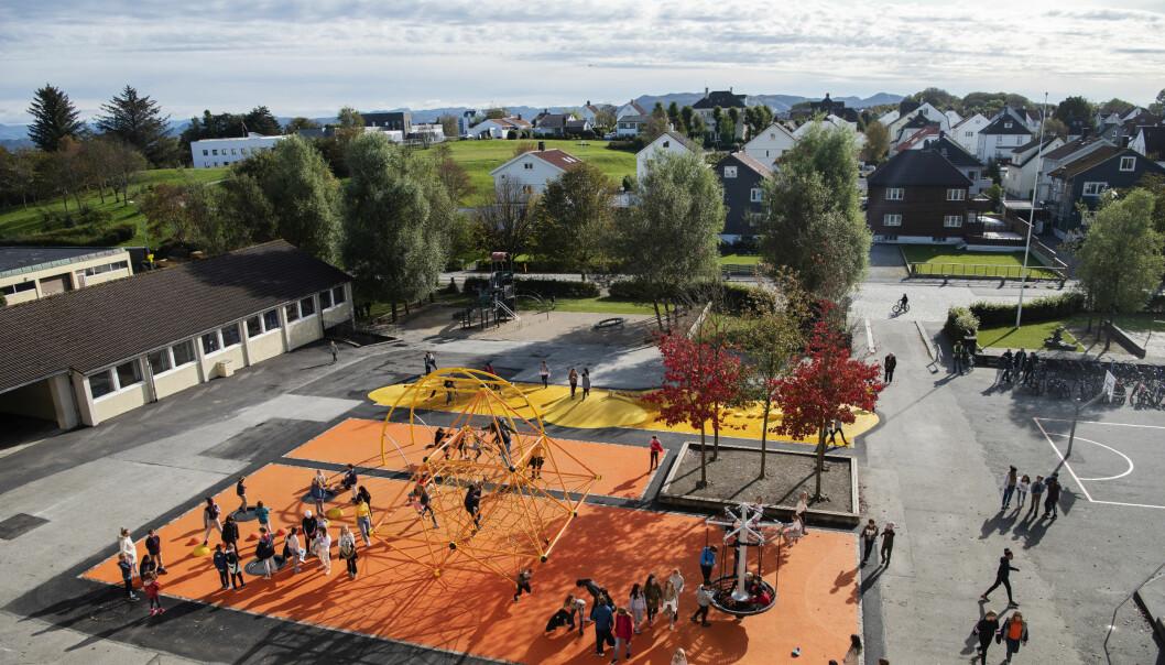 Kampen skole i Stavanger var en av skolene som nektet å underskrive budsjettet.