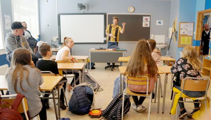 Malkenes trivdes i klasserommet på Hauge oppvekst. Et hav av forskjell fra å jobbe i Osloskolen.