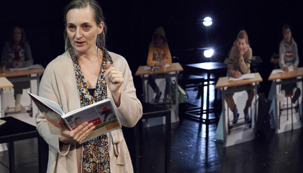Skuespiller Marte Magnusdotter Solem får ros for rollen som lærer for en 7. klasse.