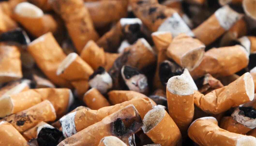 Sneiper fra sigaretter en en stor kilde til plastforurensning.